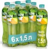 Холодный чай Fuzetea Манго-ромашка, зеленый, 6 шт по 1,5 л