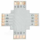 Коннектор для светодиодной ленты Ecola LED connector гибкая соед. плата X для зажимного разъема 4-х конт. 10 mm уп. 5 шт. SC41FXESB