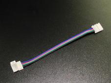 Коннектор для соединения светодиодных лент 10мм RGB проводом