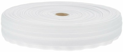 "Тесьма для штор ТД Текстиль ""Классика"", цвет: белый, 4 см х 100 м"