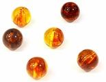 """Бусины Астра """"Янтарь"""", цвет: янтарный, диаметр 12 мм, 20 гр"""