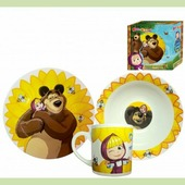 """Набор посуды детской """"Маша и Медведь. Подсолнух"""""""