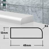 Плинтус бордюр для ванной ПВШ48 45 см822