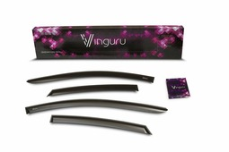 Комплект дефлекторов Vinguru, накладные, скотч, для Lada Kalina 2004- седан/хэтчбек, 4 шт