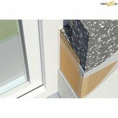 Угловая планка из пластика и стеклоткани CT-Gewebe-Eckschutz 656/02, Сетка 10+15см, L=2,5m