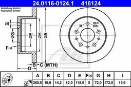 Тормозной диск ATE 24.0116-0124.1