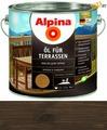Масло для террас Alpina Oel fuer Terrassen, Темный 2,5 л / 2,5 кг