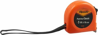 "Рулетка Sparta ""Classic"", цвет: оранжевый, 18 мм х 5 м"