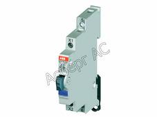 E217-16-01D Кнопка зеленая с подсветкой 115-250В AC без фиксации на DIN-рейку 16А 1НЗ ABB, 2CCA703252R0001