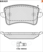 Дисковые Тормозные Колодки R Brake R BRAKE арт. RB1835