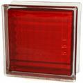 Стеклоблок Сетка красный