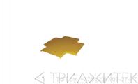 Крышка Х-соединителя оптического лотка 240 мм, желтая