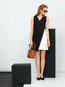 Электронная выкройка Burda - Платье А-силуэта в стиле колор-блокинг 116 A