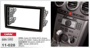 Переходная рамка для установки магнитолы CARAV 11-028 - Opel Corsa D, Zafira B, Astra H