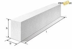 Перемычка из ячеистого бетона 100*250*1300 мм, шт.