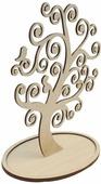 """Деревянная заготовка Астра """"Дерево под бижутерию. Завитки"""", 26 х 14 см"""