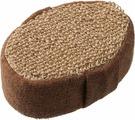 Мочалка Банные Штучки, 40360, коричневый, 10 х 15 х 5 см