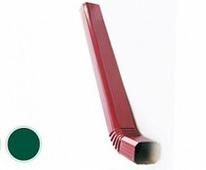 Труба водосточная Grand Line Vortex с коленом, 102/78, ПЭ, Зеленый, 1м