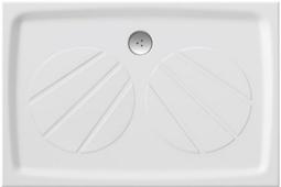 Душевой поддон из литьевого мрамора Ravak Galaxy Gigant Pro 120 x 80 -- со смесителем для душа 120 / 80 см / со смесителем для душа