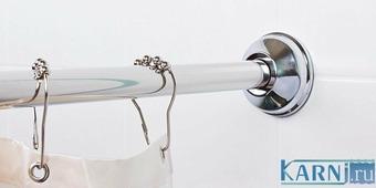Карниз (штанга) для ванны Акватек Бетта 150х95 см Угловой Г, асимметричный