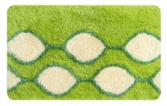Коврик для ванной комнаты Iddis Curved Lines Green