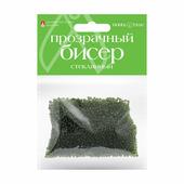 """Бисер круглый """"Прозрачный"""", 2 мм, 60 грамм, цвет травяной, №17"""