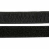 Лента контактная пришивная (липучка) Hobby&Pro, 20 мм x 25 см, цвет: черный, арт. 549707