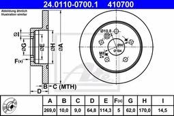 Тормозной диск ATE 24.0110-0700.1