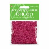 Бисер матовый, стеклянный, 2 мм, 60 грамм (розовый №15)