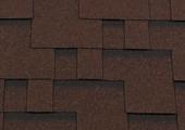 Гибкая битумная черепица RoofShield Модерн Premium Коричневый с оттенением