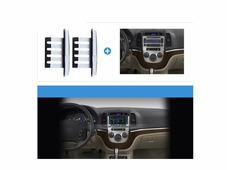Переходная рамка для установки магнитолы Incar RHY-N04W - Переходная рамка Hyundai Santa Fe 2006-2011 (вставки) Silver