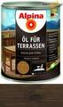 Масло для террас Alpina Oel fuer Terrassen, Темный 750 мл / 0,75 кг