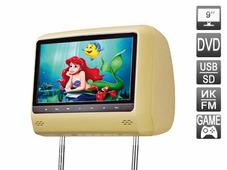 "AVEL Подголовник со встроенным DVD плеером и LCD монитором 9"" AVIS AVS0943T (бежевый)"