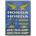 Наклейки TB Honda Dunlop blue A4