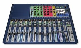 Soundcraft Si Expression 2 цифровой микшер, 24 мик/лин XLR входа, 16 XLR выходов, 4 лин. TRS входа, AES вх/вых, 4 проц. эффектов, Word Clock, MIDI вх/вых, слот для карт расширения. 22 фэйдера в одном слое. HiQnet Ethernet порт. БП встроенный