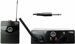 AKG WMS40 Mini Instrumental Set BD US45B инструментальная радиосистема с приёмником SR40 Mini и портативным передатчиком PT40 Mini, в комплекте гитарный шнур MKG L