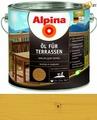 Масло для террас Alpina Oel fuer Terrassen, Светлый 2,5 л / 2,5 кг