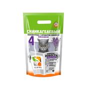 Наполнитель силикагелевый Four Pets с запахом лаванды, 20кг (50л)