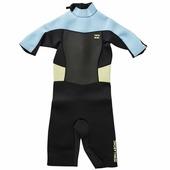 Короткий детский гидрокостюм для жаркой погоды Billabong Syner 2x2 Bz Ss Sprg