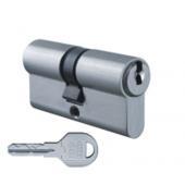 Цилиндровый механизм EVVA ICS ключ-ключ никель 31x31