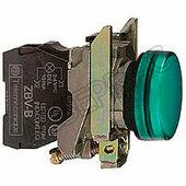 Зеленая лампа со встроенным светодиодом 230-240В Schneider Electric, XB4BVM3