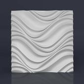 Стеновая гипсовая 3D панель – Тернеция, 500х500mm