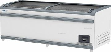 Ларь-витрина морозильная Italfrost ЛВН 2100 (ЛБ М 2100) СП ЛТ серый верх. бампер
