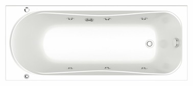 Гидромассажная акриловая ванна Bas Атланта 170 x 70     170 / 70