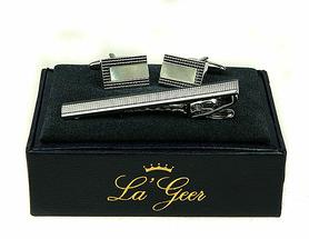 Подарочный набор LA GEER 140528 (заколка для галстука, запонки) 7*3*10см
