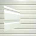 Сайдинг наружный виниловый Docke Dacha Корабельный брус Белый