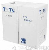 Кабель FTP, 25 пар, Кат. 5e, внешний, черный, 305м в кат., TWT
