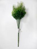 """Цветок искус. """"Ветка зелени с белыми цветами"""""""