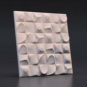Стеновая гипсовая 3D панель – Песочные города, 500х500mm