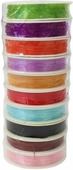 """Нить силиконовая """"Астра"""", для бисера, цвет: разноцветный, 0,6 мм х 25 м, 10 шт"""